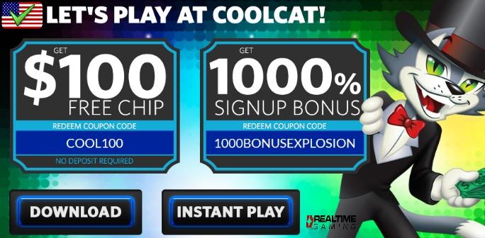 Coolcat Casino No Deposit Bonus Codes